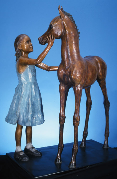 Girl and Foal by Susan Bahary