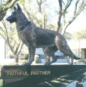 Faithful Partner Bronze K-9 Memorial