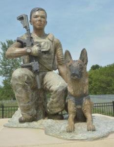 Bronze John and Bart Memorial