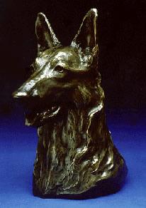 German Shepherd Bronze Sculpture