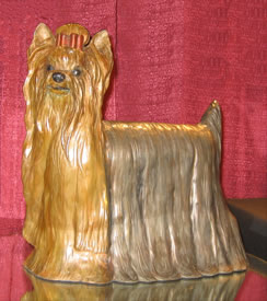 Yorkshire Terrier Bronze Sculpture