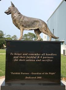 Working Dog K-9 Memorial Sculpture