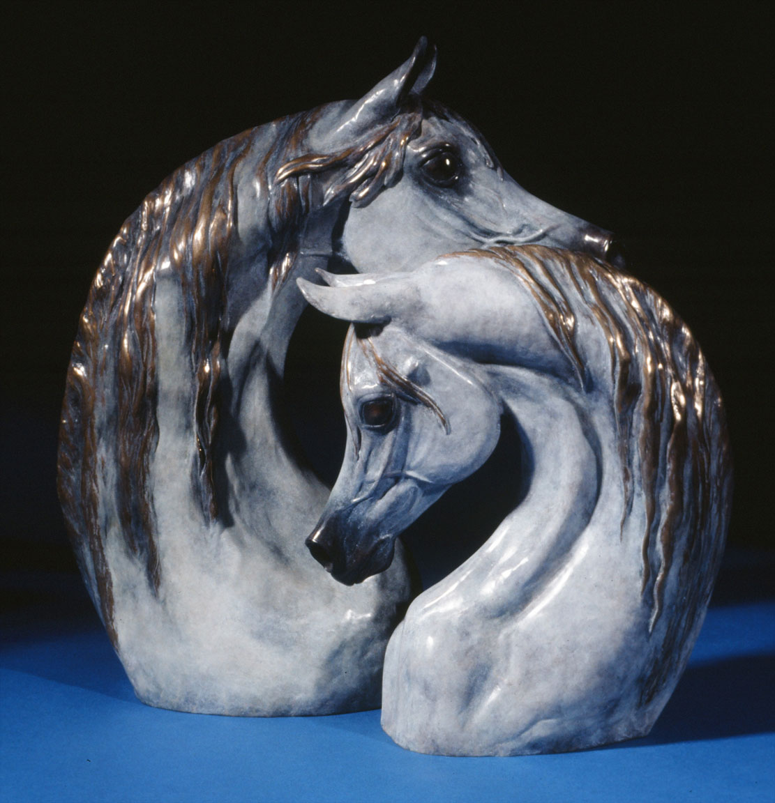 Arabian Heart Bronze Horse Sculpture