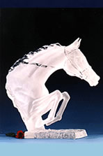 Acrylic Sculpture of Horse
