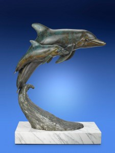 Bronze Fine Art Dolphin Sculpture