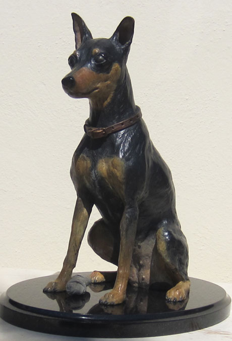 Commissioned Sculpture of Dog