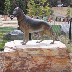 Service Dog Memorial Sculpture